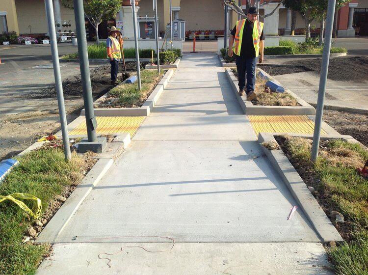 sidewalk curbs