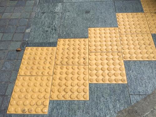 sidewalk bumps